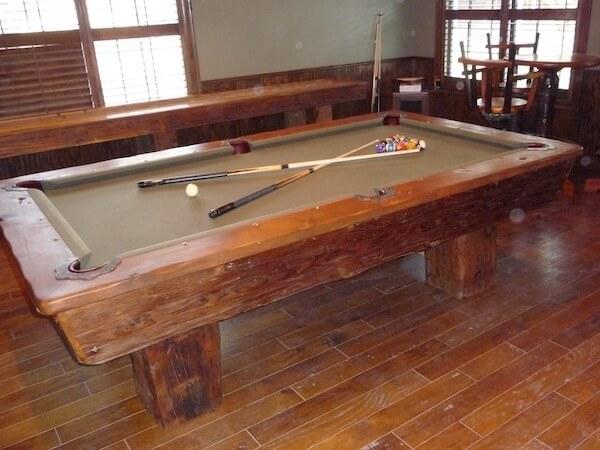 King Ranch Texas pool table
