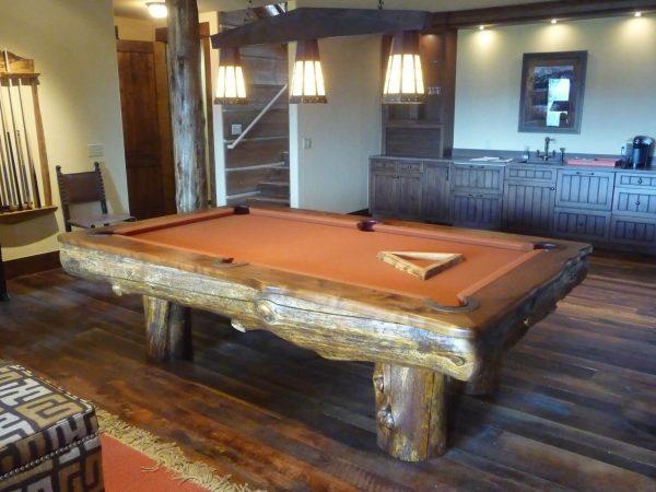 log-pool-table-spruce-bar-rustic