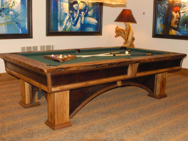 southwest-leather-wood-arched-pool-table